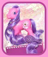 ❤️My Little Pony G3 Silver Lining Super Long Hair Tinsel Pink Purple Jewel❤️