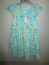 Girls Size 6 Pumpkin Patch hibiscus print dress with pom pom trim