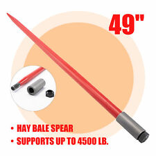 """49"""" Hay Bale Spear 4500lb Capacity Quick Attach for Skid Steer Tractor Lift More"""
