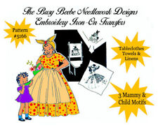 #5166 - Mammy & Child Embroidery Kitchen Towel Americana Motifs Iron On Transfer