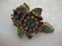 "HEIDI DAUS ""Captivating Corsage""(13 Crystal Colors) M/L Bracelet (Orig.$239.95)"