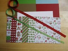 Stampin Up SNOW FESTIVAL 6 x 6 Paper Card Kit CHRISTMAS Ribbon