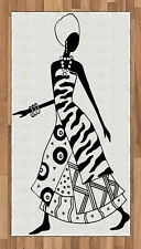 African Woman Area Rug Decorative Flat Woven Accent Rug Home Decor 2 Sizes