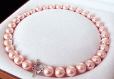 14mm Pink South Sea shell Pearl Necklace 17/20/24Inch JN1490