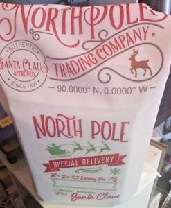 Santa Postal Sack Christmas  Xmas Large Sack Personalised With Name