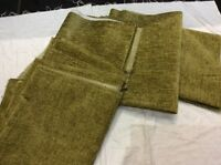 5 Remnants Citrus Green Chenille Flame Retardant Upholstery Fabric FREE POSTAGE