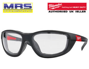 MILWAUKEE PREMIUM SAFETY GLASSES WITH GASKET - CLEAR LENSES - 4932471885