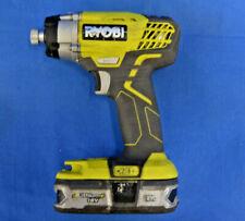"Ryobi P236A 18V Li-ION1/4"" Cordless Compact Impact Driver Drill"