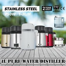 750W 4L Water Distiller Water Purifier Hospital Temperature Controlled 110V