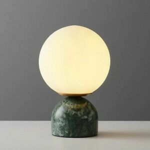 LED Table Lamp Nordic Marble Living Bed Study Room Ceramic Desk Light Fixture