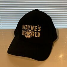 Wayne's World Hat Snapback Black Snap Back Cap Used Mens