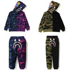 1 Set Kids Boy Girl Bape Camo WGM Monkey Sweatershirt Hoodies+ Pants 7 Style