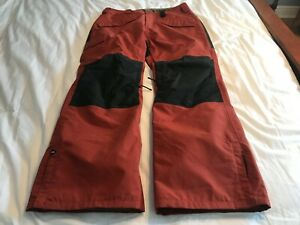 DAKINE Mens Large Insulated Ski Snowboard Pants Red Rust Cargo Style