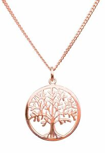 ANTOMUS®  18K ROSEGOLD VERMEIL 925 SILVER TREE OF LIFE YGGDRASIL NECKLACE