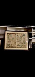 Original framed 1865 Johnson's military map
