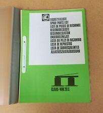 CLAAS Wirbelmäher WM 20 C  Ersatzteilliste 1981 Lagerexemplar