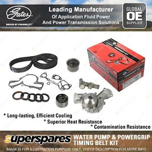 Gates Water Pump & Timing Belt Kit for Mitsubishi Pajero NH NJ NK NL 153kW 169KW