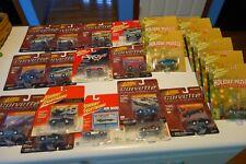 Johnny Lightning Corvette Ornament Cars Muscle Charger Gold Ad Rod Lot Bundle