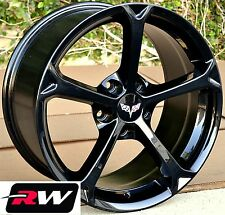 Corvette Wheels 2010 C6 Grand Sport Gloss Black Rims 17/18 inch fit C4 1988-1996