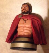 """King Leonidas 300 the Movie Resin 6"""" Mini Bust Statue Spartans Neca great shape"""