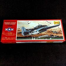 Lindberg Grumman Avenger Torpedo Airplane Plastic Scale 1/72 #480-100 Open Box