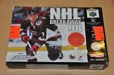 Nintendo 64 N64 Spiel Modul - NHL Breakaway 98 - Eishockey -komplett Deutsch OVP