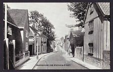 Woodbridge Fire Station & Street Suffolk IP12 Printed Postcard PC England Road