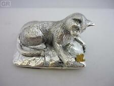 SUPERBE Hallmarked Sterling Silver cat statue NEUF