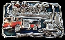 FIRE TRUCKS HORSES FIGHTERS FIREMAN FIREMEN BELT BUCKLES BOUCLE DE CEINTURE