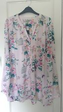 SPIRIT at M&Co tunic style blouse top Size 20 brand new with tags in pink floral