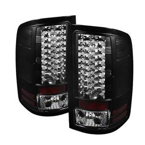 GMC 07-13 Sierra 1500/2500HD/3500HD Black LED Rear Tail Lights Brake Lamp Set