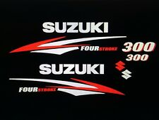 Suzuki 300 hp FourStroke Engine Decal Kit  Silver & Red 225 or  250 by request