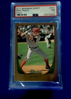 Mike Trout 2011 Super Rare Bowman Draft GOLD - PSA 7 Buy 2 Graded Cards Save 10%