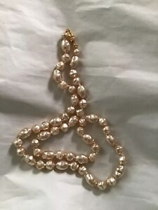 joan rivers odd shaped pearls necklace