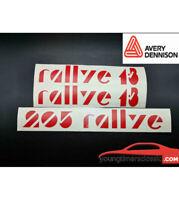 Kit Stickers pour PEUGEOT 205 RALLYE coffre + custodes latérales