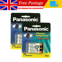 2x Panasonic HHR-P107A 3.6V NIMH Rechargeable Batteries for KX-TG Cordless Phone