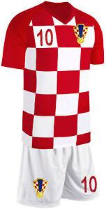 Kroatien Kinder Trikot Set Fußball Fan Zweiteiler Rot Weiß
