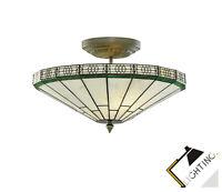 Classique Luminaire de Style Tiffany Lampe Plafond en Laiton LED Compatible Neuf