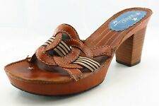 Indigo by Clarks Size 8 M Brown Slide Leather Women Sandal Shoes