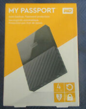 WESTERN DIGITAL WD 4TB MY PASSPORT PORTABLE EXTERNAL HARD DRIVE