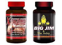 Big Jim and Twins Natural Male Enhancement Xtreme 2000 Nitric Oxide L-Arginin