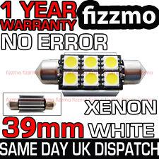 6 LED 39 millimetri 239 272 Canbus Bianco Targa Lampadina