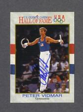 Peter Vidmar signed US Olympic Hall of Fame trading card