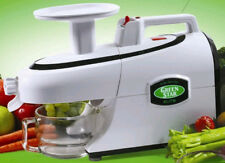 Lightly Used Green Star Elite GSE5000 Twin Gear Juicer Color is White