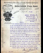 "LYON (69) USINE de LITS & SOMMIERS en fer & en cuivre ""BOUVIER Fils Ainé"" en1911"