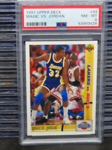 1991-92 Upper Deck Magic VS. Jordan Classic Confrontation #34 PSA 8 (28) D262