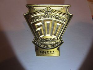 1997 INDIANAPOLIS 500 BRONZE BADGE ARIE LUYENDYK OLDSMOBILE AURORA INDY CAR