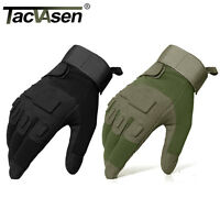 TACVASEN Tactical Combat Gloves Anti-skid Ripstop Military Full Finger Riding
