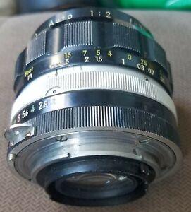 Nikon 35mm f2 Nikkor non-Ai manual focus lens