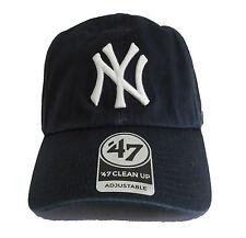 47 Brand New York Yankees Black Basic Logo Clean Up Adjustable Navy blue Hat